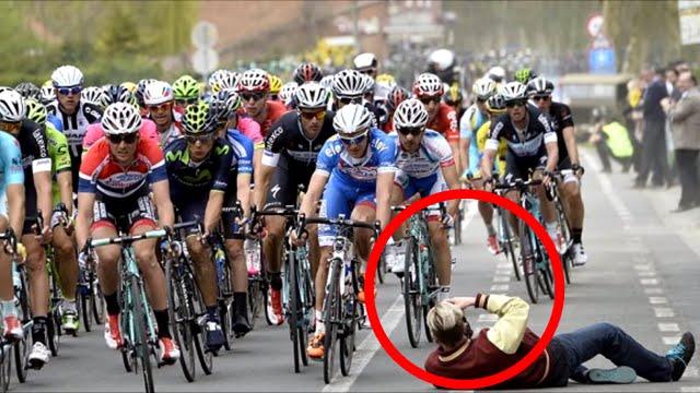 Οπαδοί της ποδηλασίας στα χειρότερα τους...