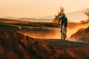 Riding in the golden hour