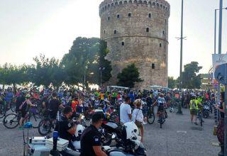 Ποδηλατοπορεία Διαμαρτυρίας στη Θεσσαλονίκη για το τροχαίο στην Πτολεμαίδα