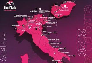 Giro d' Italia 2020 - Διαδρομή (Βίντεο)