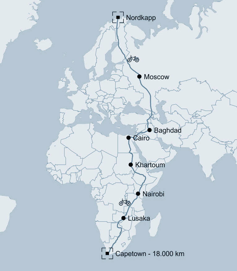 Ποδηλατώντας χωρίς υποστήριξη – Ευρώπη Αφρική σε 72 μέρες