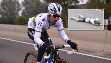 Ο Julian Alaphilippe εκτός Γύρου Φλάνδρας λόγω ατυχήματος